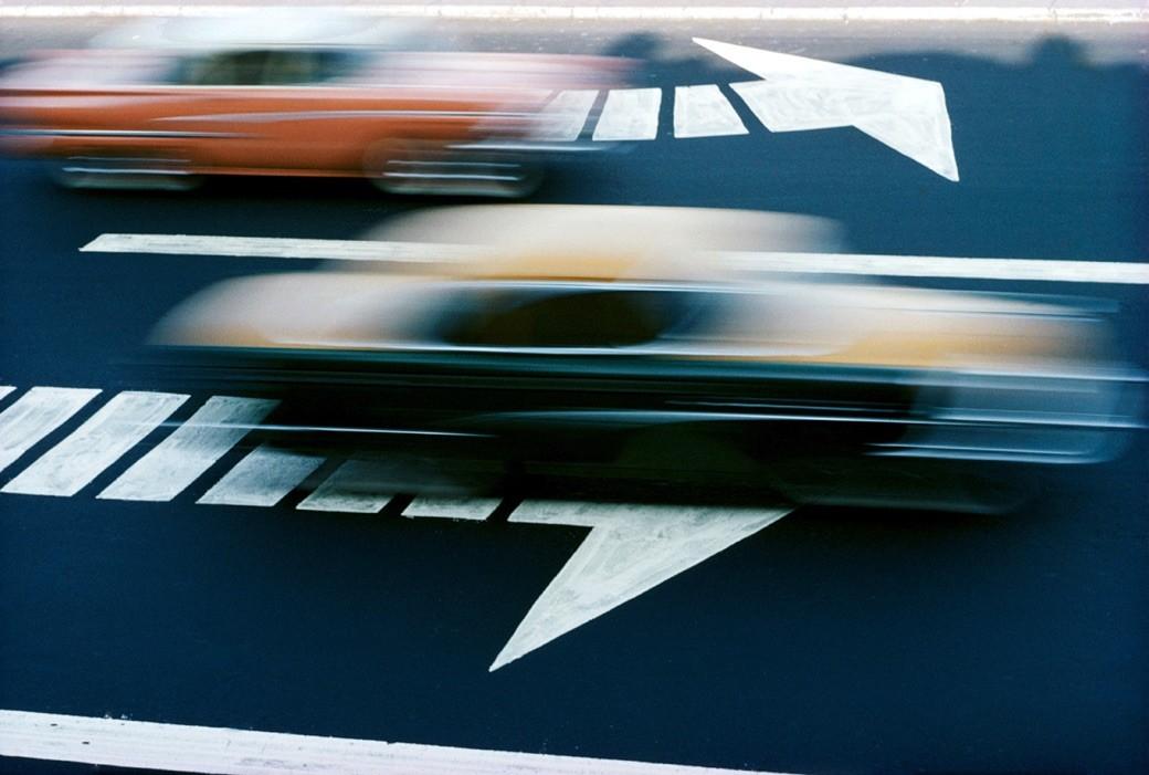 Ernst Hass - Traffic, New York 1963