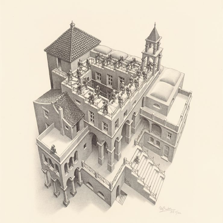 M. C. Escher: Ascending-Descending