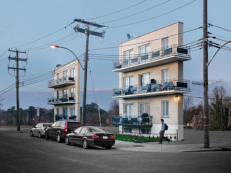 Fachadas aisladas de edificios – Fotografía de arquitectura