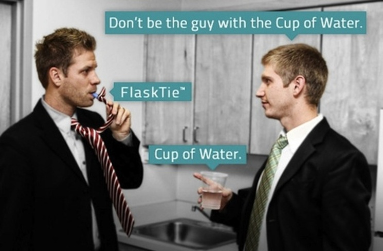 Corbata Petaca Flask Tie