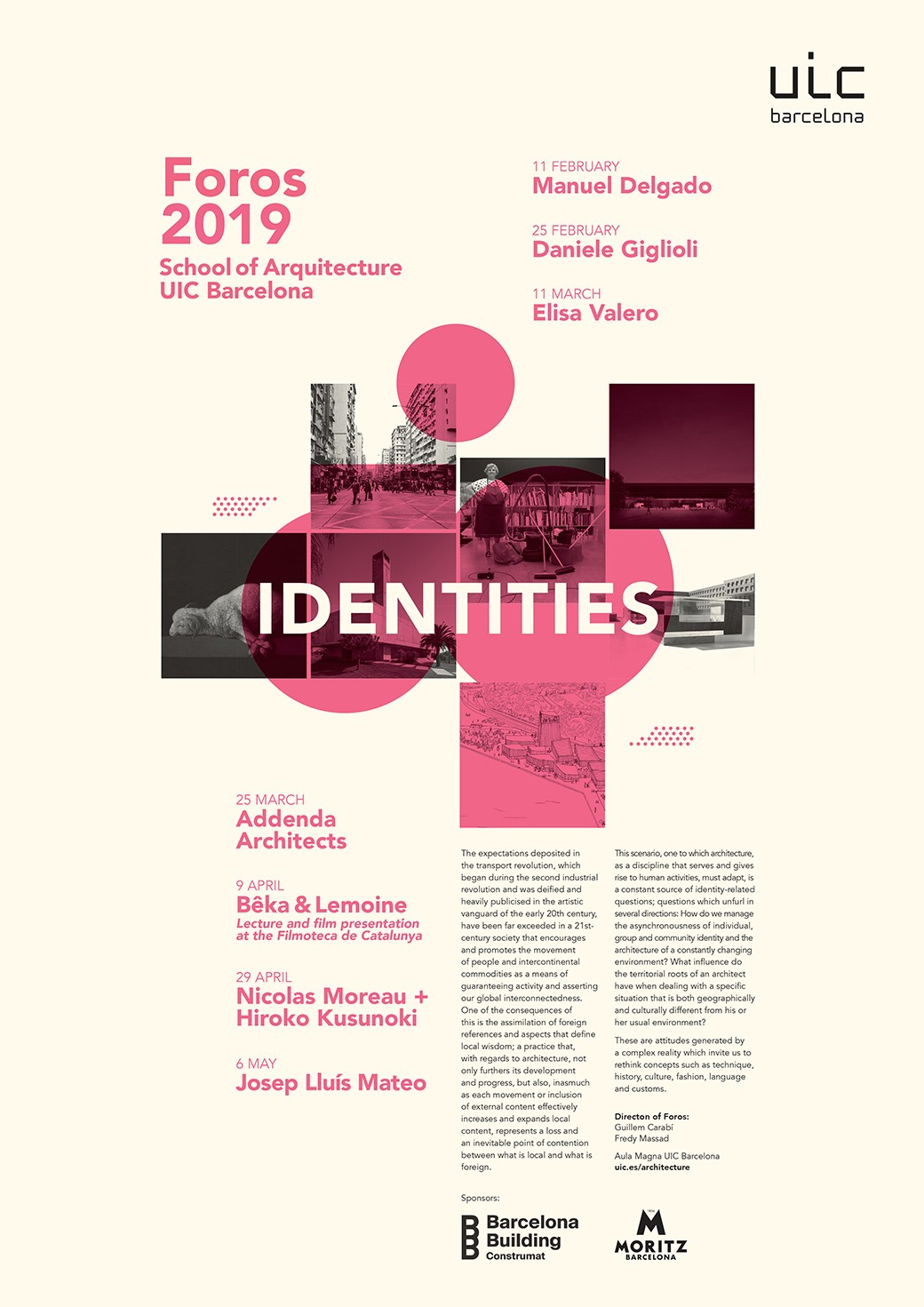 Foros UIC Barcelona School of Architecture 2019