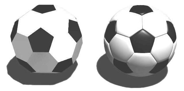 Icosaedro truncado y balón de fútbol