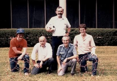 Sean O'Brien, Richard Smalley, Robert Curl, Harry Kroto y James Heath