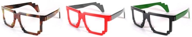 Gafas pixelizadas