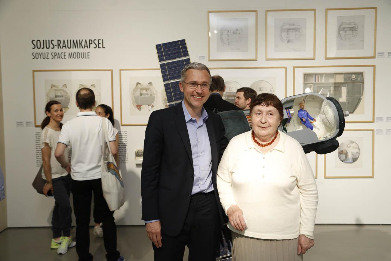 Galina Balashova enla retrospectiva que le dedicaron en Frankfurt