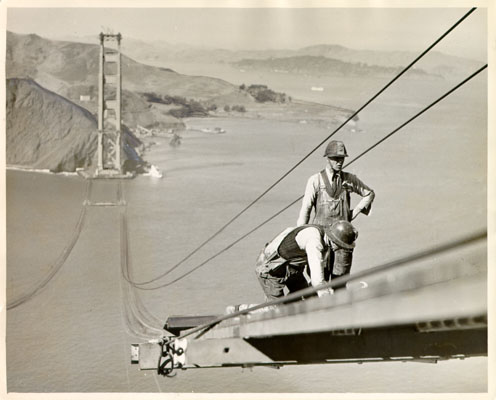 Golden Gate en construcción, 1935
