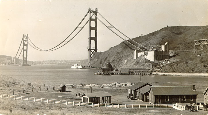 Golden Gate en construcción, 1936