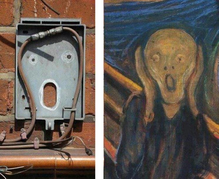 El Grito de Munch como pieza de arte urbano