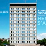 [Video] Fachada animada de un edificio de 11 plantas en Suiza