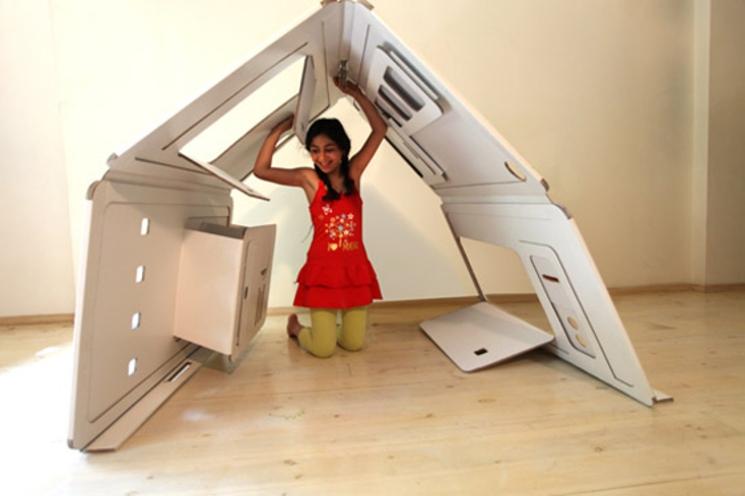 8 habitaciones de diseño en una caja – Arquitectura transformable y plegable
