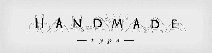 Handmade tipografía manos tianmen liao