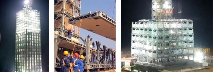 Hote Dongting de 30 plantas construido en 360 horas, 15 dias