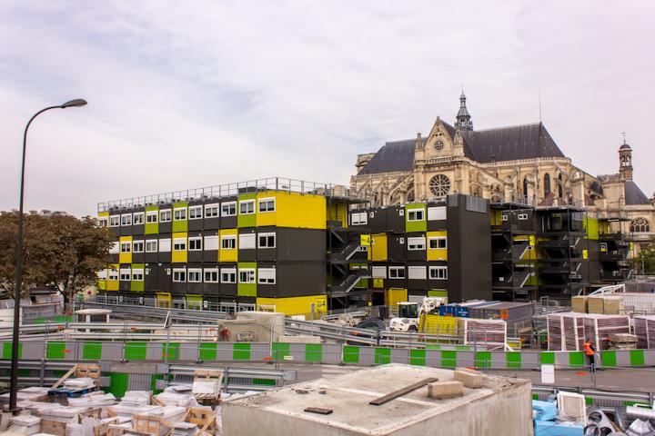 Casetas de obra en Les Halles. Daniel Cuaresma