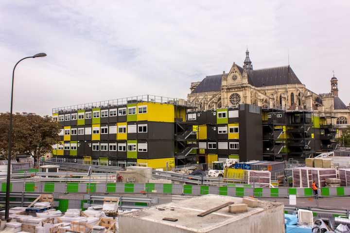 Visita a la gran obra del centro de París, Les Halles