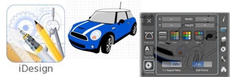 Haz dibujos vectoriales 2D con la app iDesign desde tu iPad