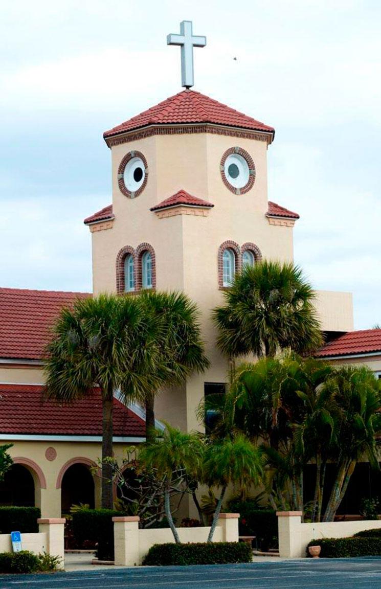 Iglesia pollo despistado