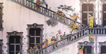 Travesuras del personal de limpieza urbana imaginadas por Jaune