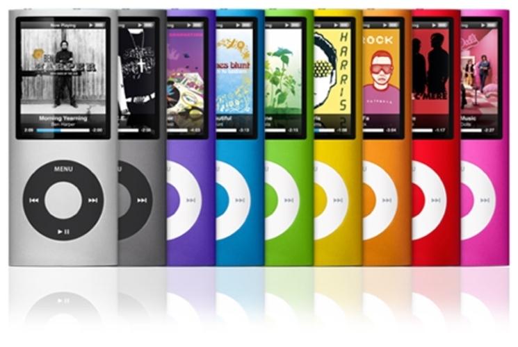 iPod nano en varios colores