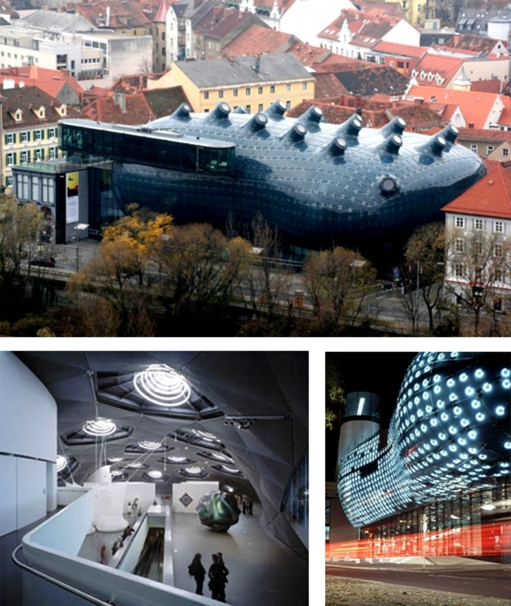 Kunsthaus de Graz - Peter Cook & Colin Fournier - (2.003)