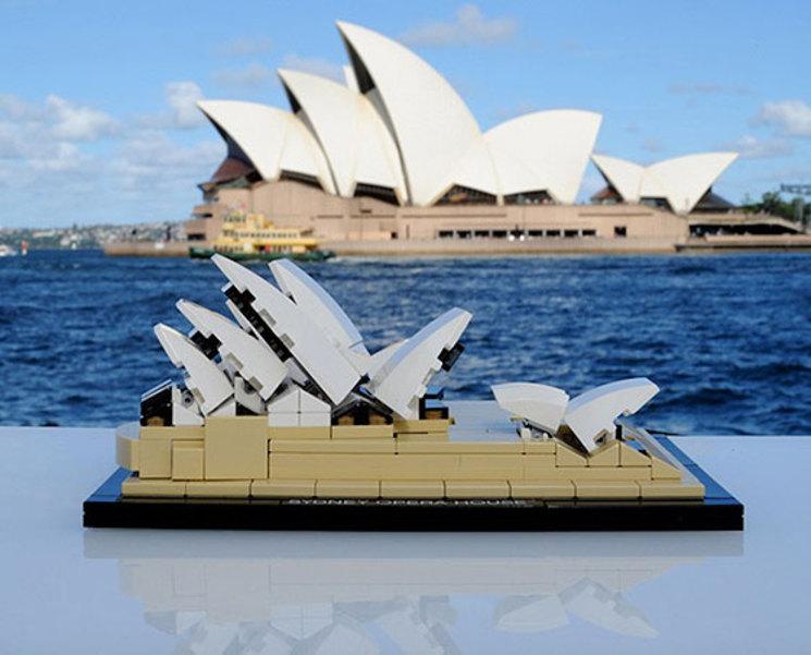 Ópera de Sydney reproducida en LEGO®