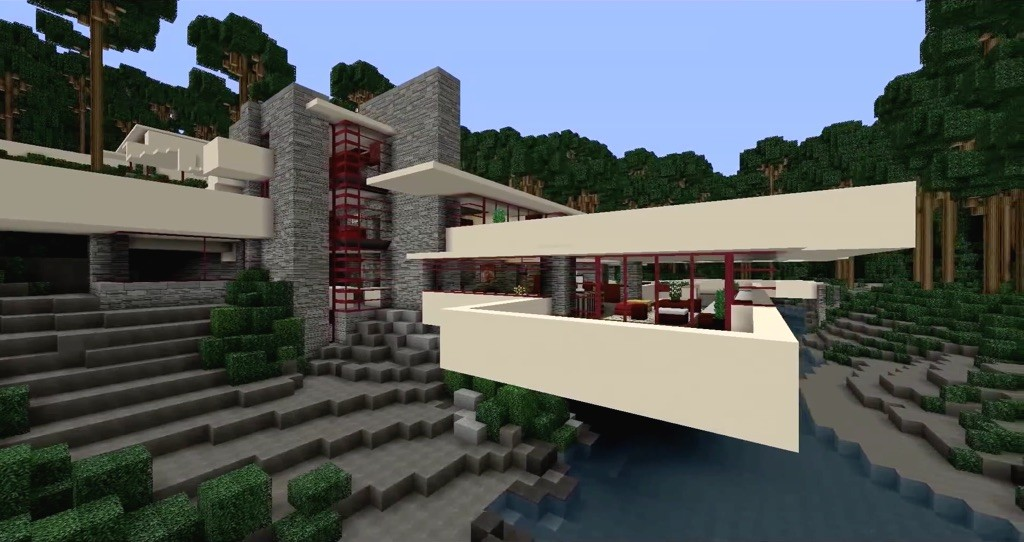Cinco casas de frank lloyd wright recreadas en minecraft a for Programas arquitectura