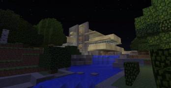 La Casa de la Cascada, la Casa Farnsworth y la Villa Savoye recreados en Minecraft