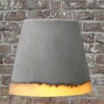 Lámpara de hormigón incandescente