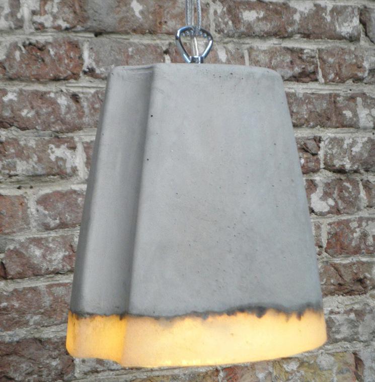 lámpara de hormigón