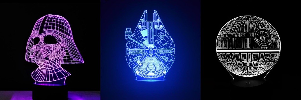 Lamparas led 3D - Star Wars