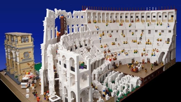 coliseo romano de lego