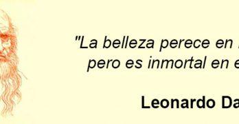 Leonardo Da Vinci belleza vida arte