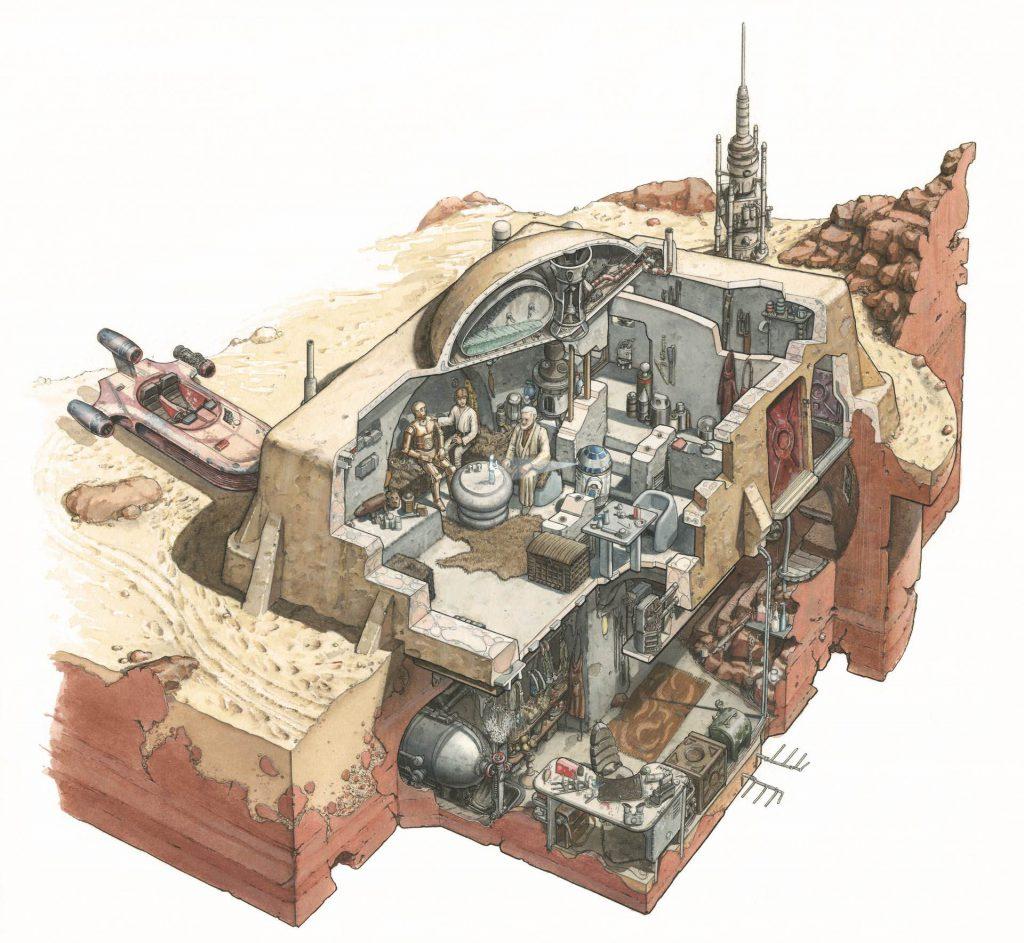 Casa de Obi-Wan Kenobi en Tatoonie por Richard Chasemore