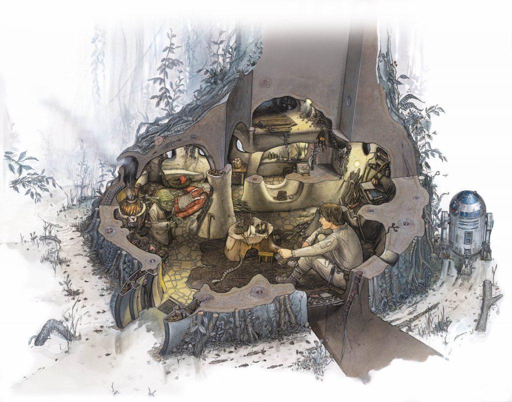 Casa de Yoda en Dagobah por Richard Chasemore