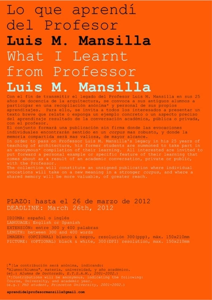 Lo que aprendí del profesor Luis M. Mansilla