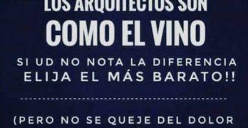Los arquitectos son como el vino