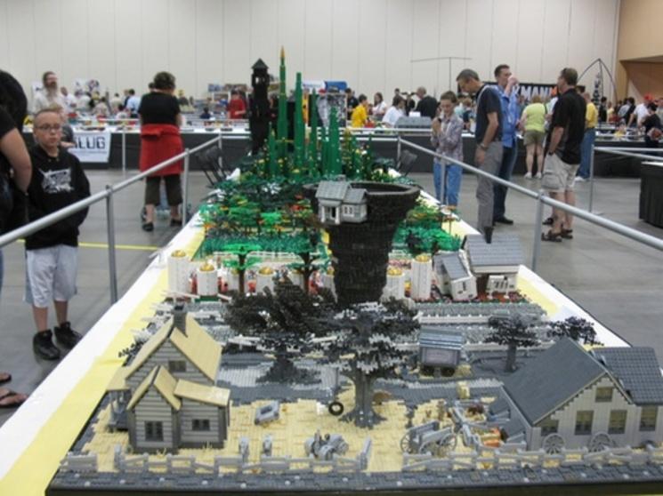 """Diorama de """"El Mago de Oz"""" en Lego"""