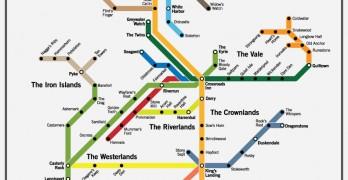 Mapa del Ferrocarril de Poniente – Juego de Tronos
