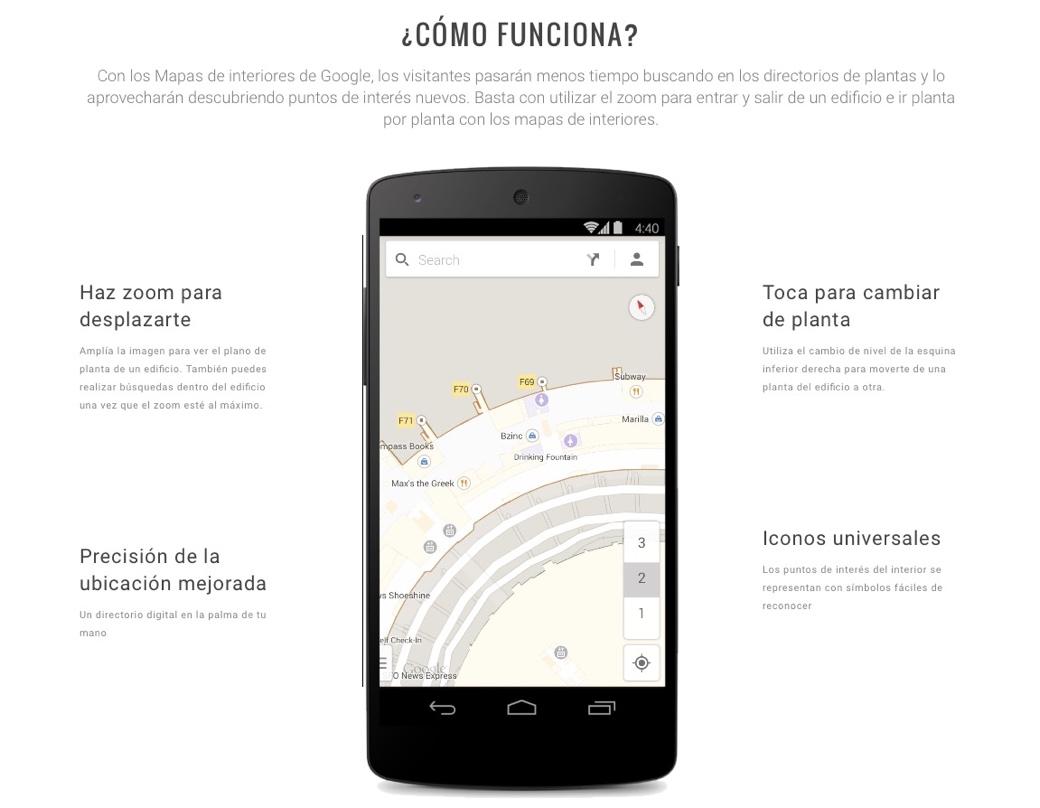 Observa y añade plantas de edificios en los Mapas Interiores de Google Maps