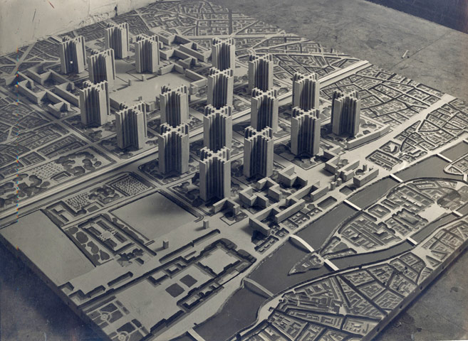 Maqueta del Plan Voisin Paris, Le Corbusier.
