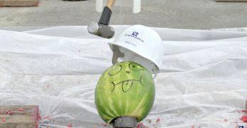 Pruebas de resistencia a impacto de un casco de obra a la caída de objetos