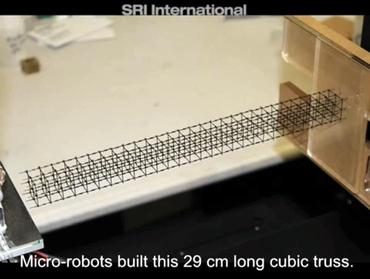Estructura realizada por los micro-robots
