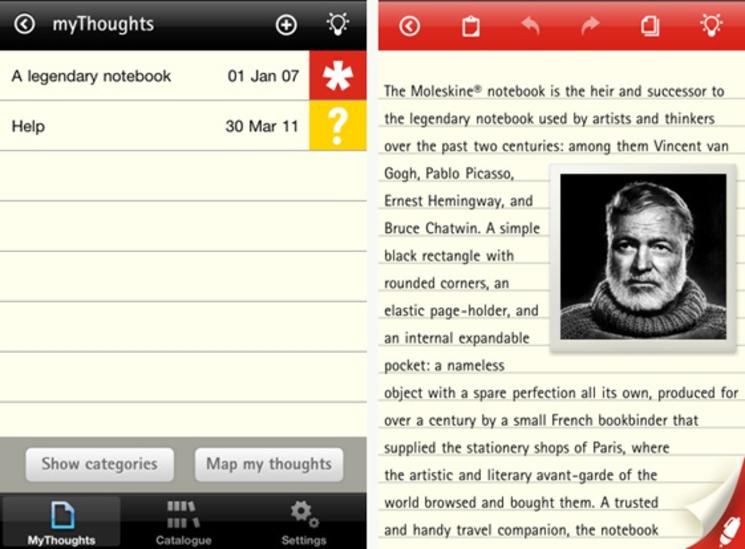 Moleskine® para iPhone y iPad