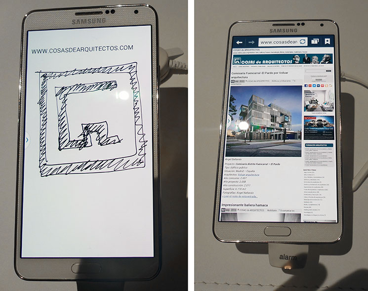 Galaxy Note 3 un movil para arquitectos