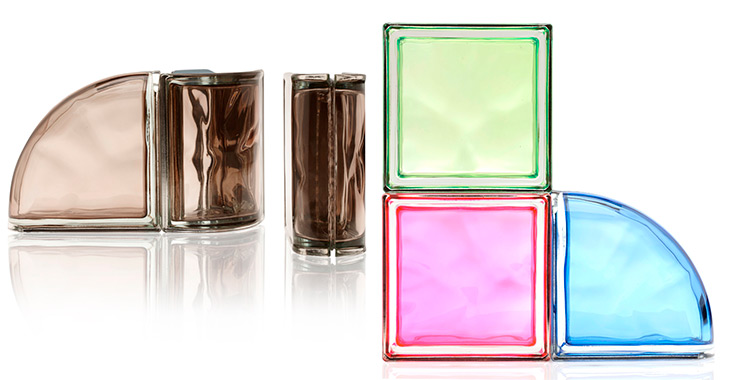 New colour collection seves glass block bloque vidrio colores