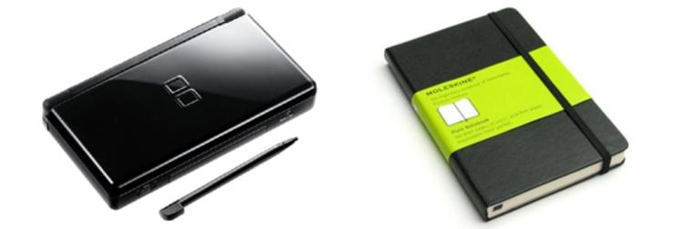 Nintendo DS como Moleskine