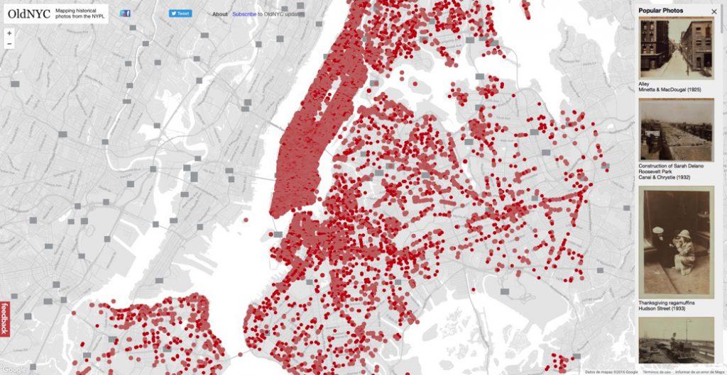 Fotos antiguas geolocalizadas de Nueva York