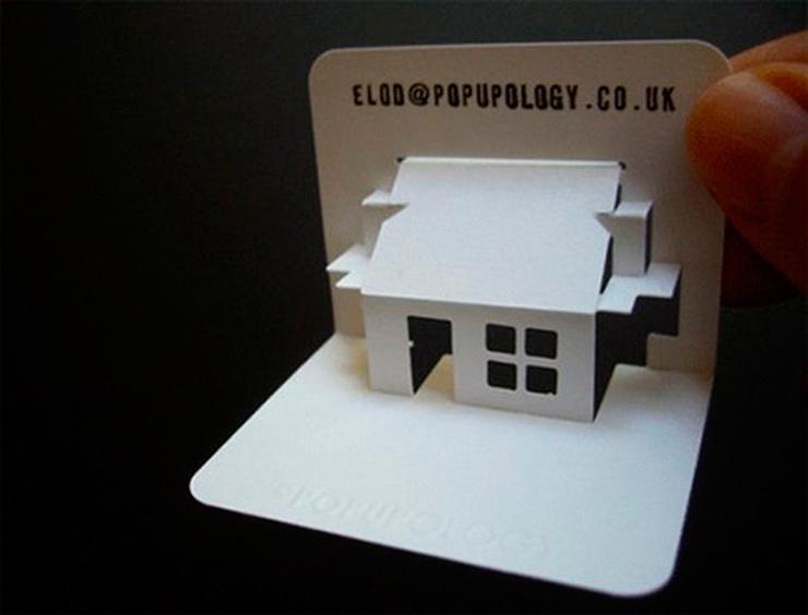 Originales tarjetas de visita para arquitectos