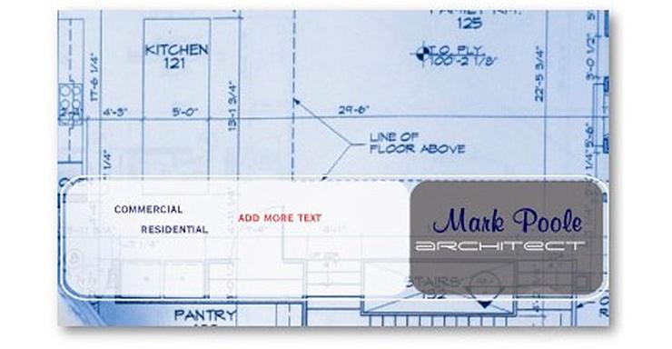 Originales tarjetas visita arquitectos