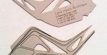 Originales tarjetas de visita zaga hadid