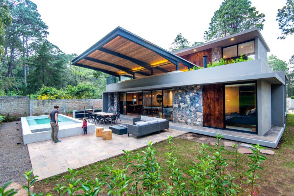 Residencial Oyamel 9 casas descanso contexto arquitectos